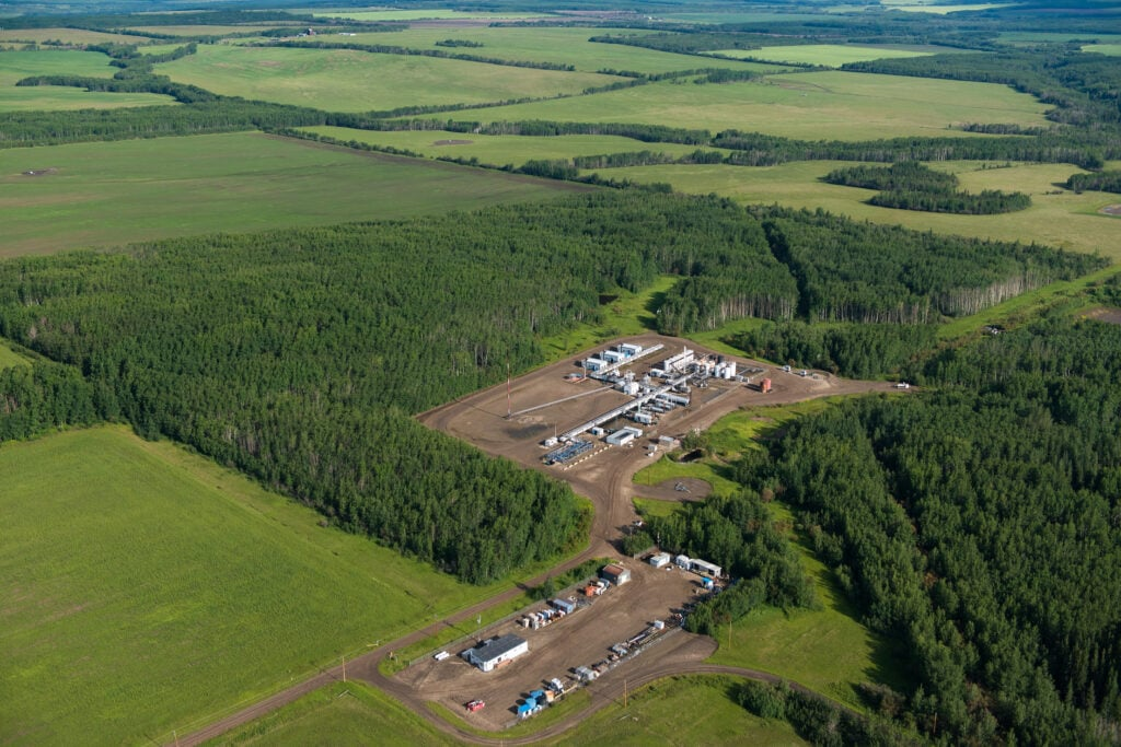 Oil and Gas Development in Montney formation on Blueberry First Nation territory