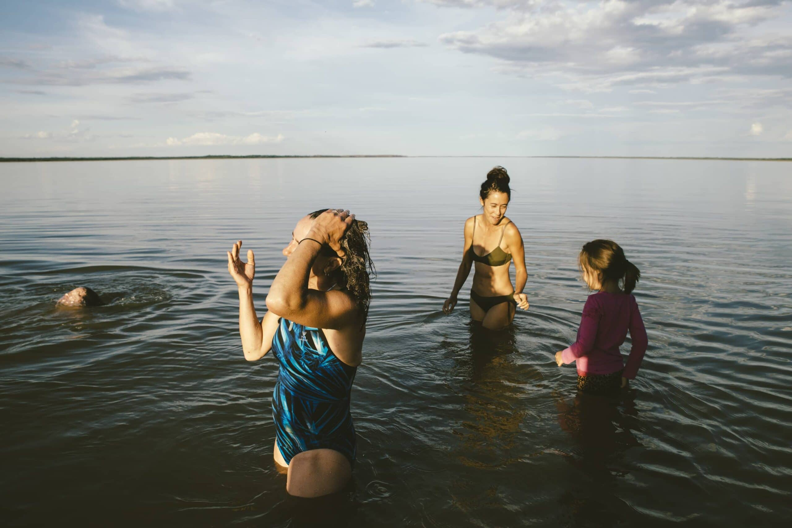 Dehcho women swimming Pat Kane