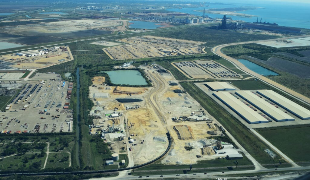 aerial view of exxonmobil