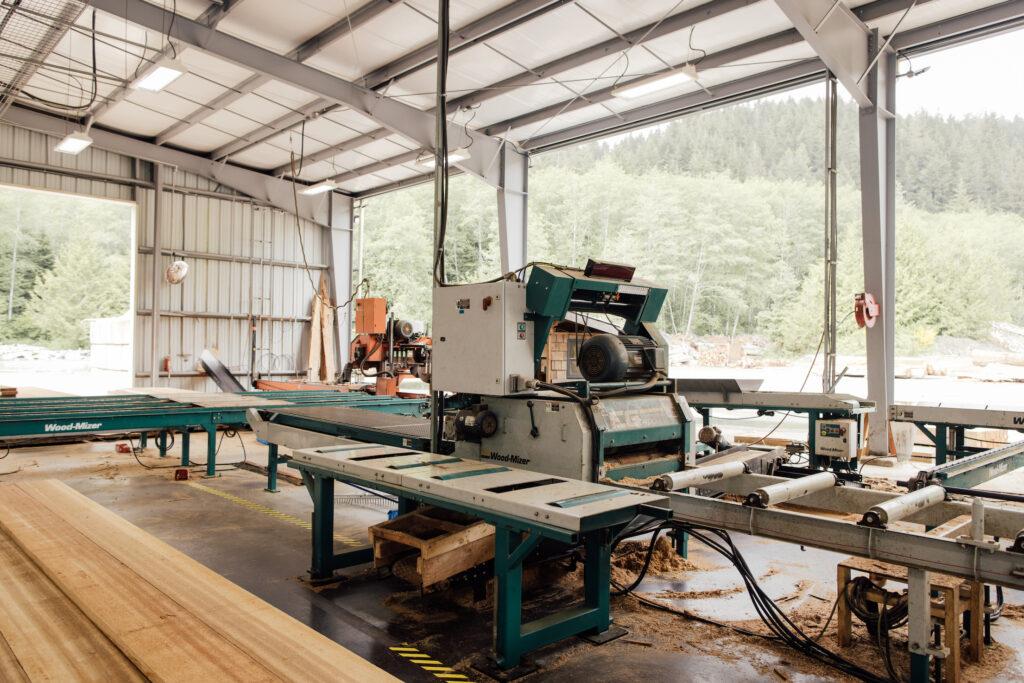 Pacheedaht owned saw mill