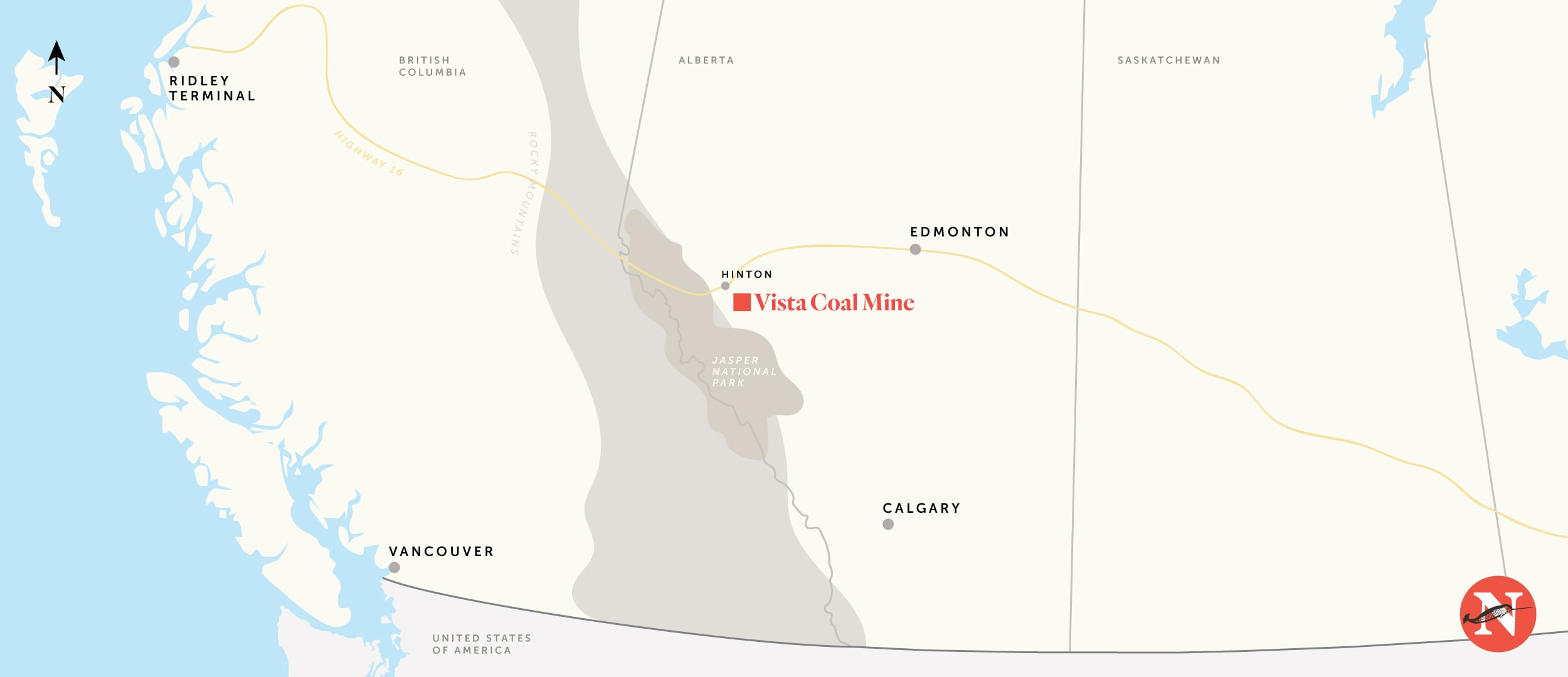 Vista coal mine Hinton Alberta