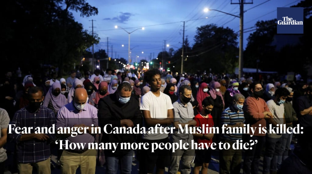 """""""Fear and anger in Canada after Muslim family is killed: 'How many more people have to die?'"""""""