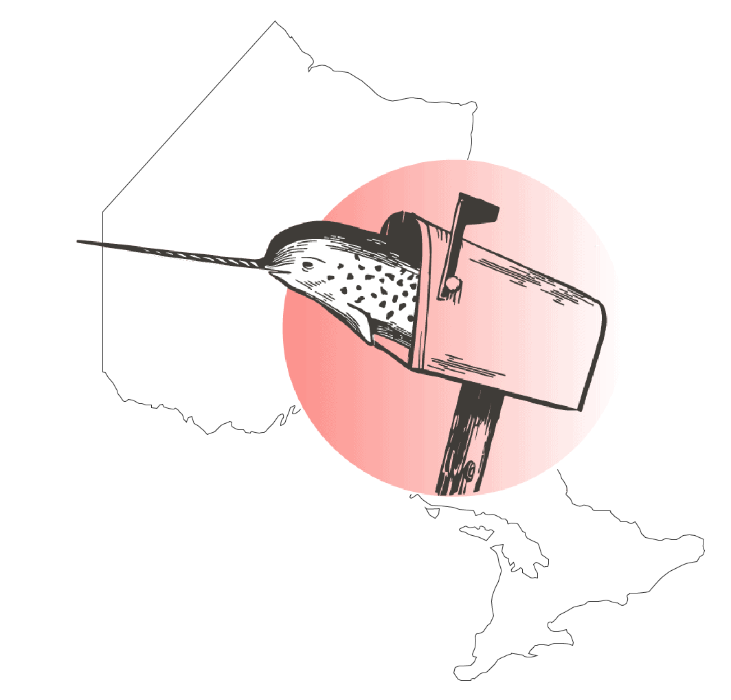 the narwhal icon on map of ontario