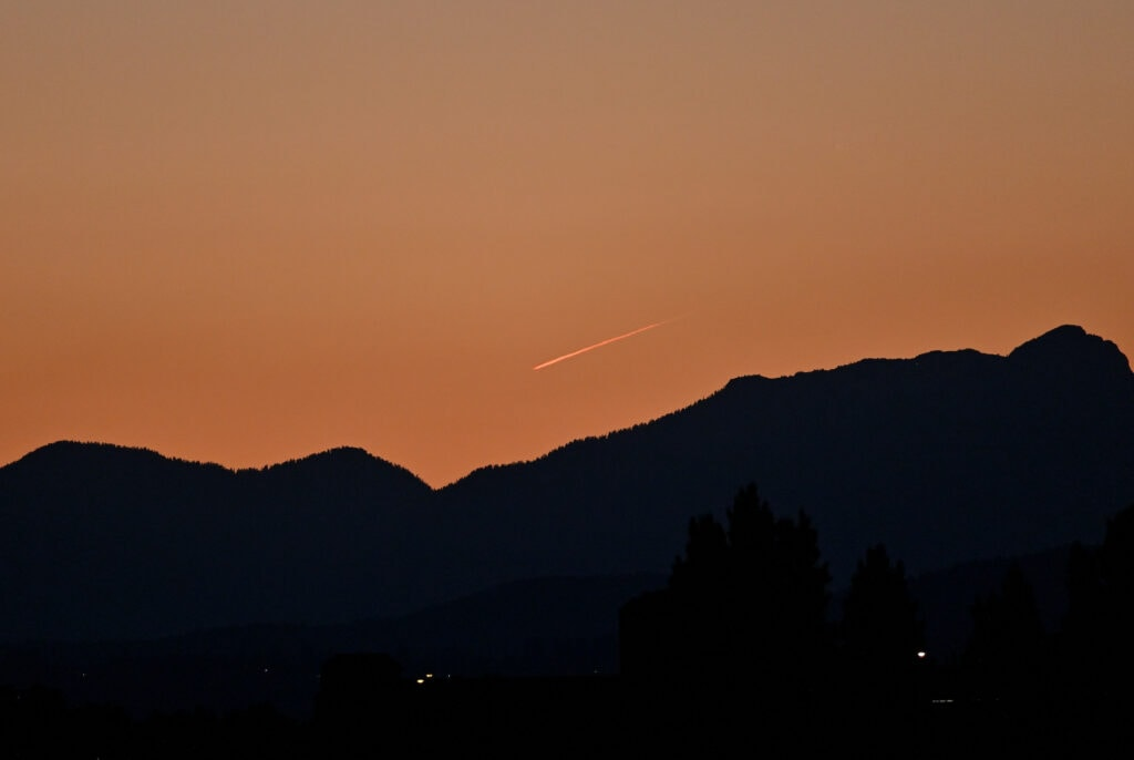 Vancouver at dusk during B.C. heat wave of June 2021 - Flickr