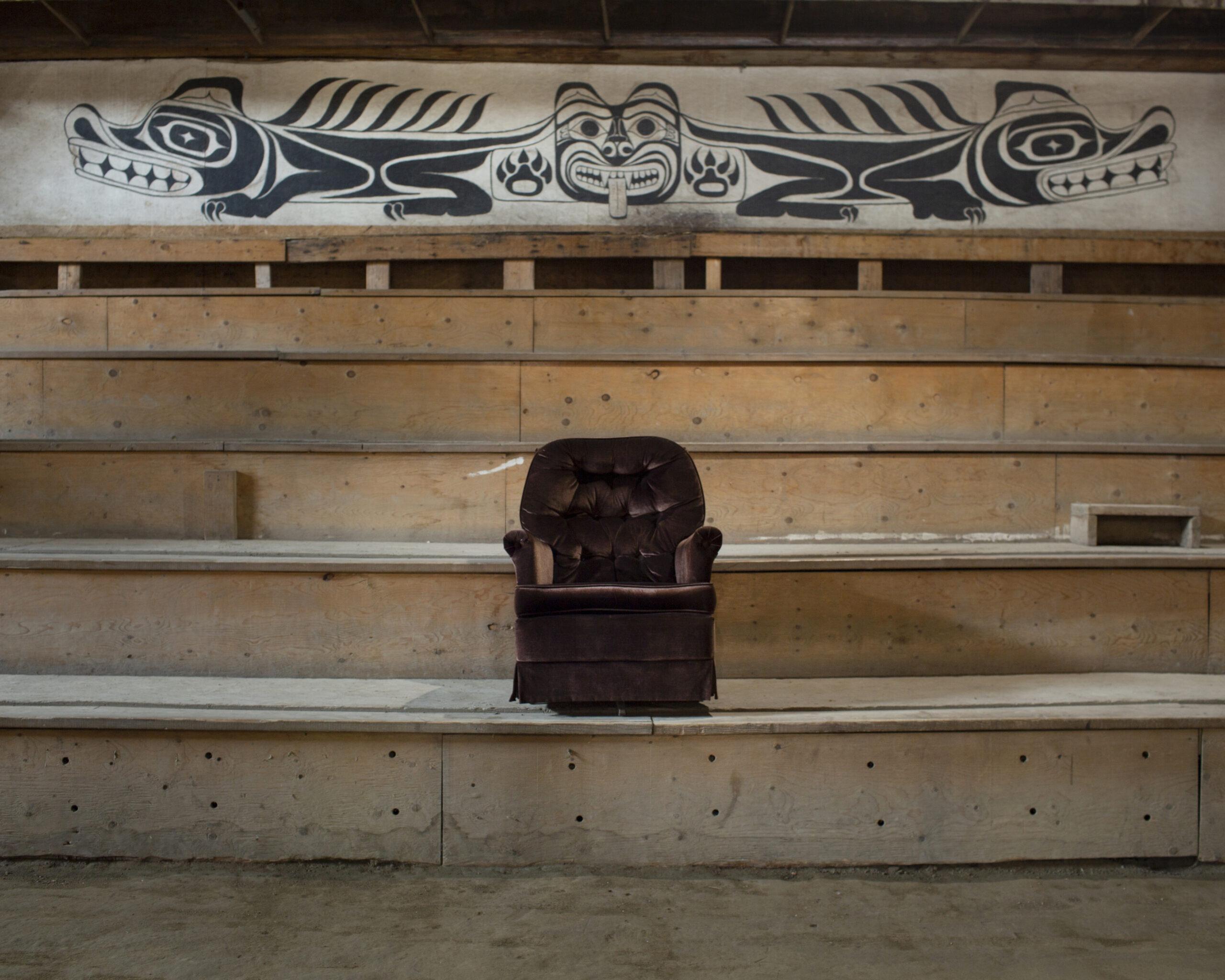single armchair in long house