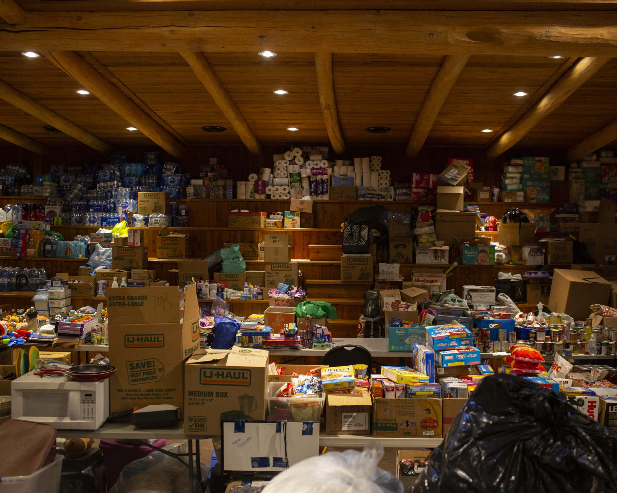 Boston Bar Long House packed with donations