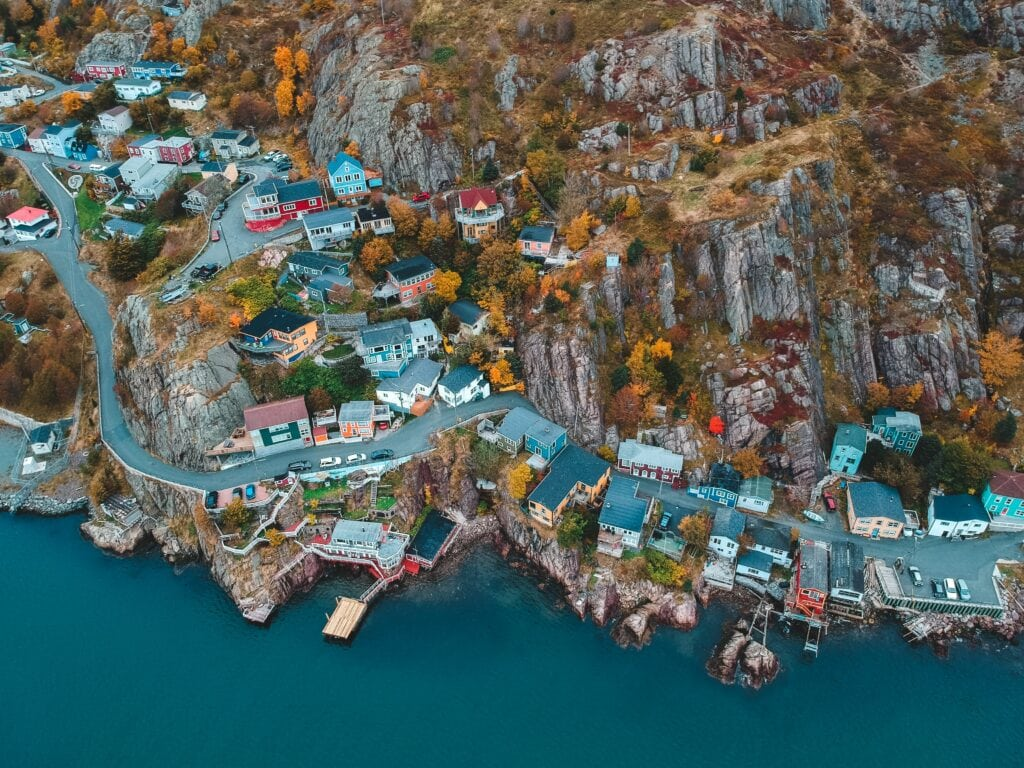 aerial view of st. john's