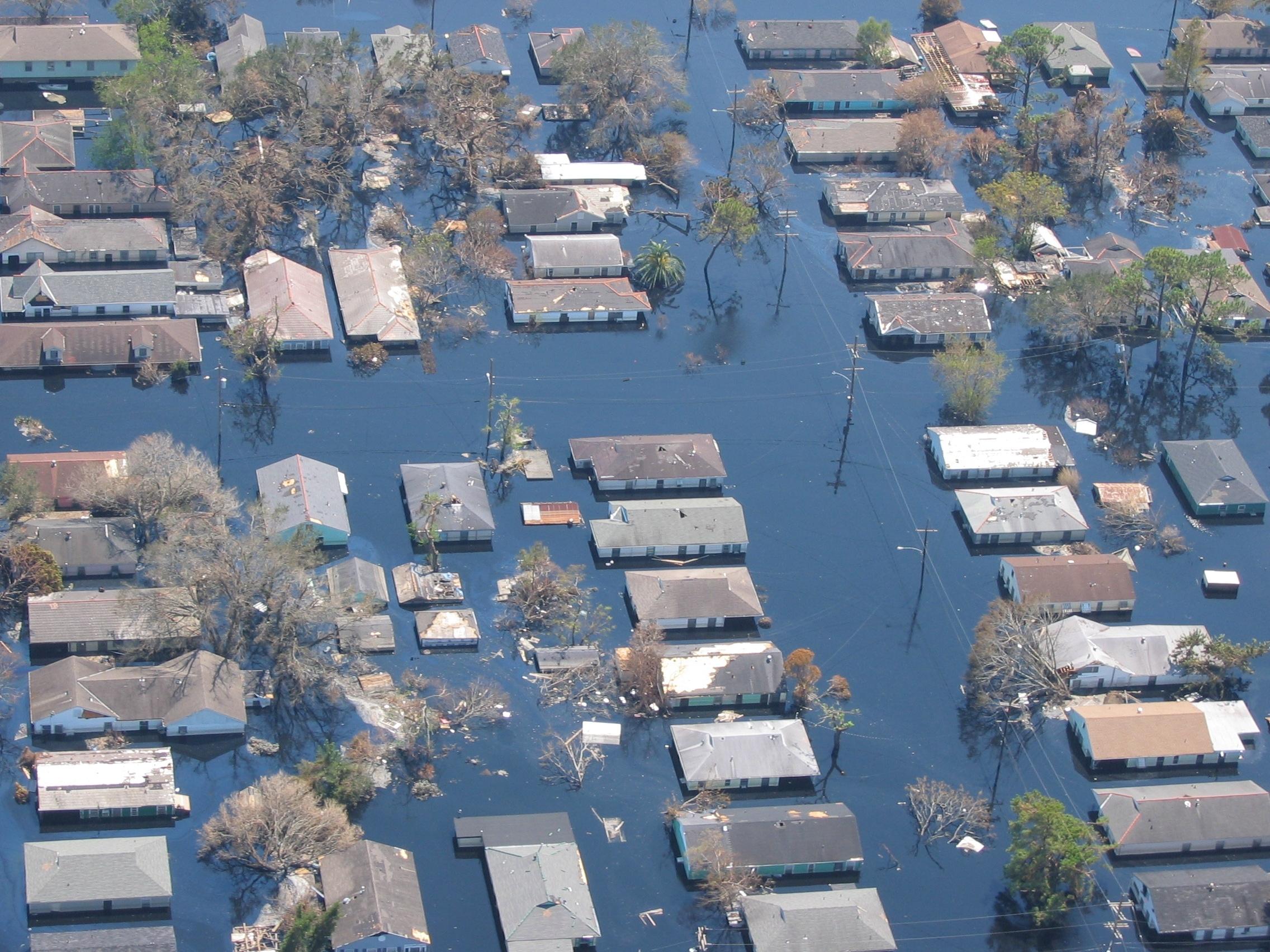 Hurricane Katrina flooding in New Orleans