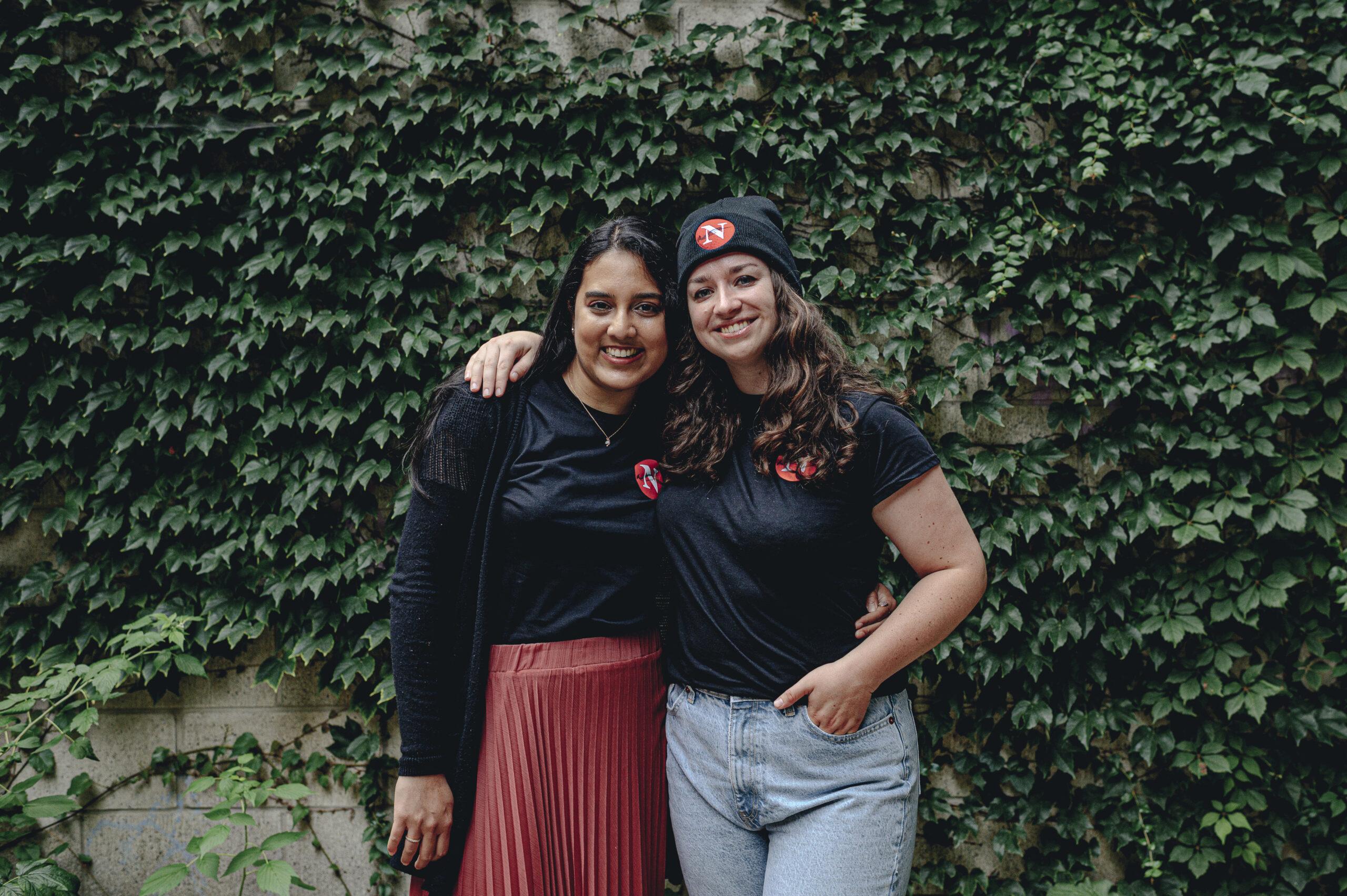 Fatima Syed and Emma McIntosh pose for a portrait