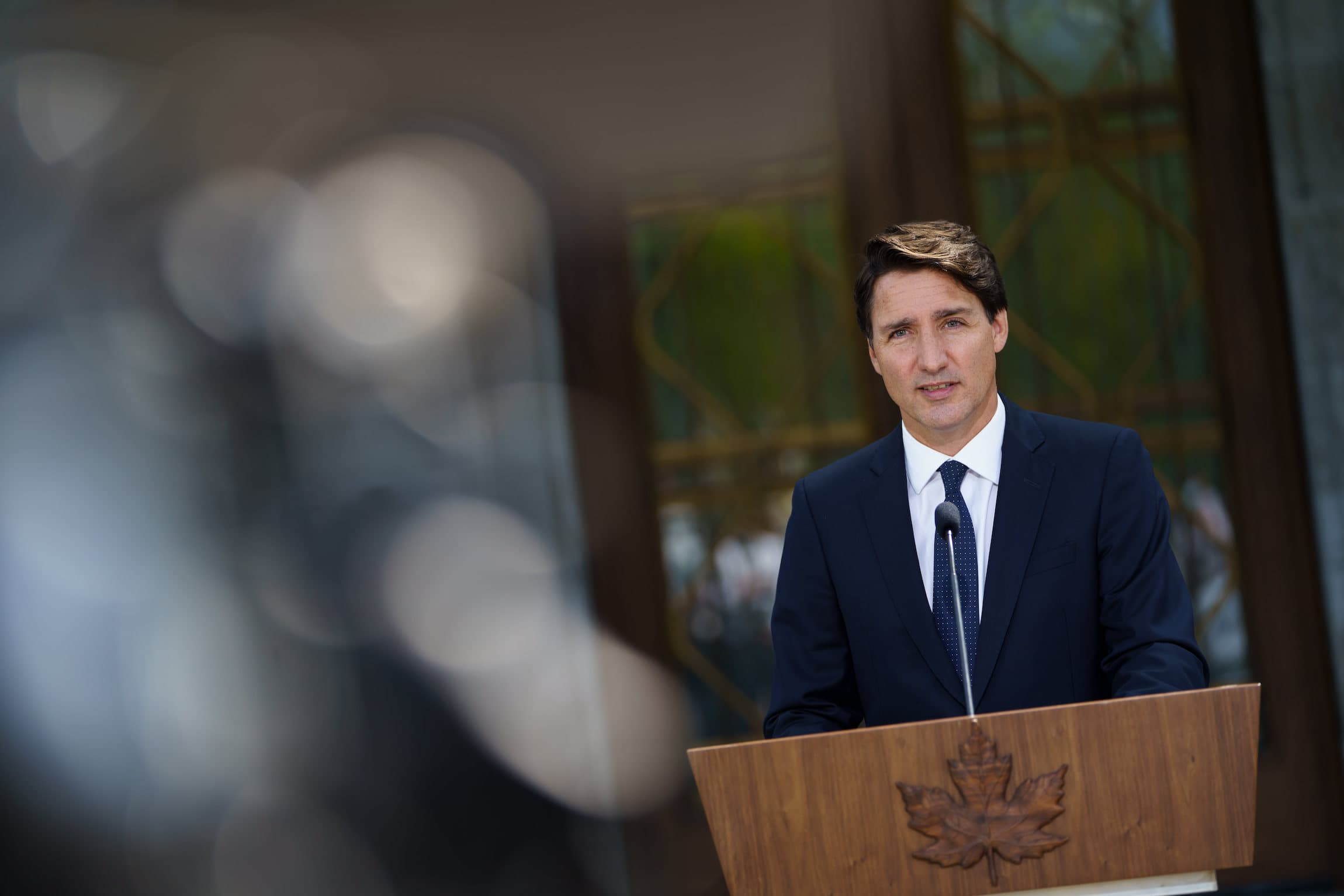 Federal election 2021: Liberal Leader Justin Trudeau is seen speaking