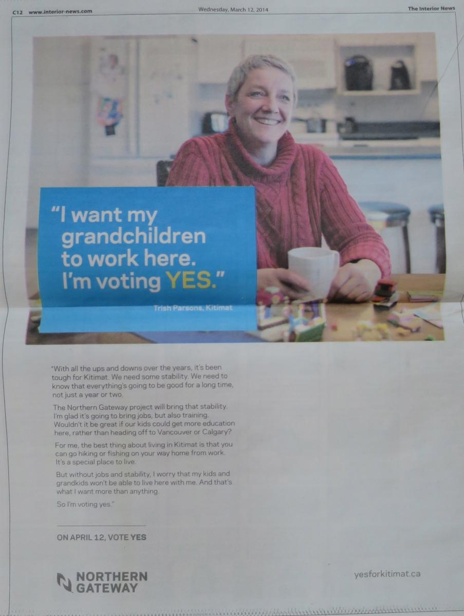 Enbridge Blitzes Northern B.C. With Ads Before Kitimat Plebiscite On ...