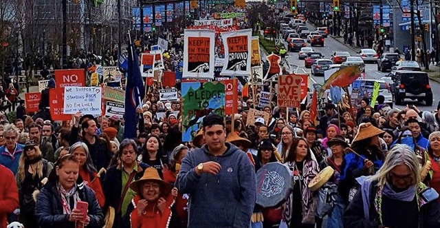 Kinder Morgan protest in Vancouver