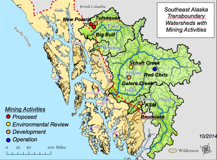 Transboundary mines Alaska-B.C. border