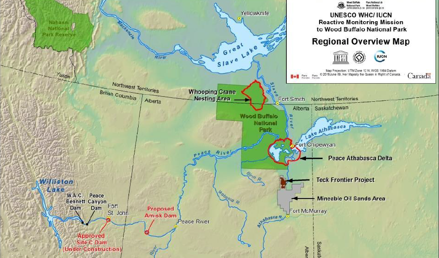 Wood Buffalo National Park map