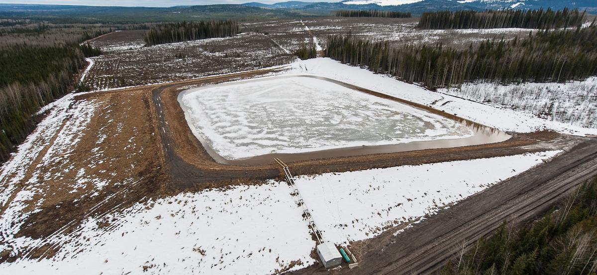 Fracking dam